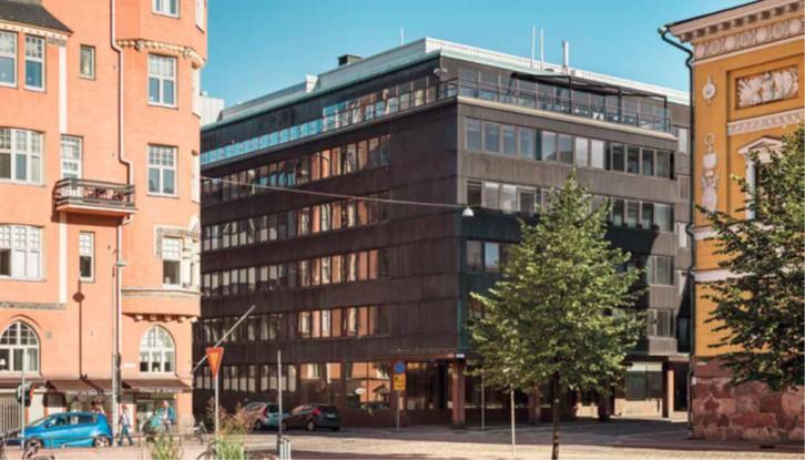 kattoterassillinen toimisto oma sisäpiha uniikki toimisto helsingin keskustassa