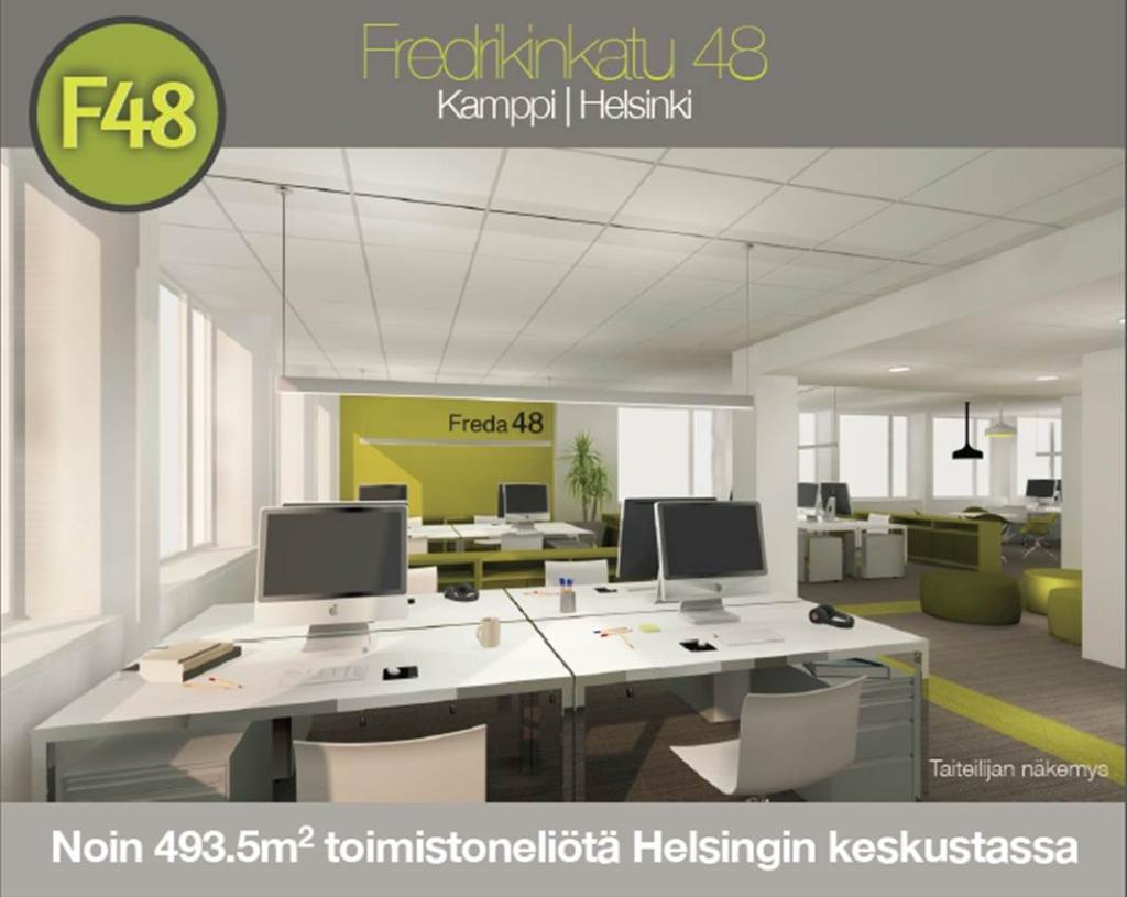 vapaa toimistotila helsinki keskusta fredrikinkatu 48